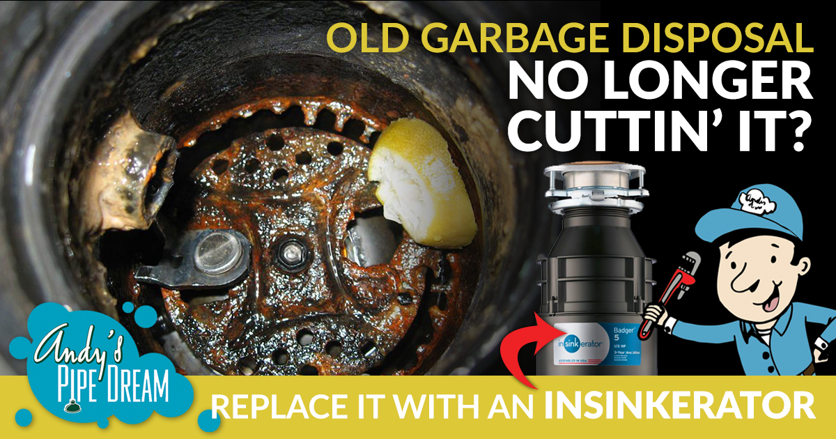 Is Your Old Garbage Disposal Just Not Cutting it Anymore?  Install a NEW InSinkErator Garbage Disposal